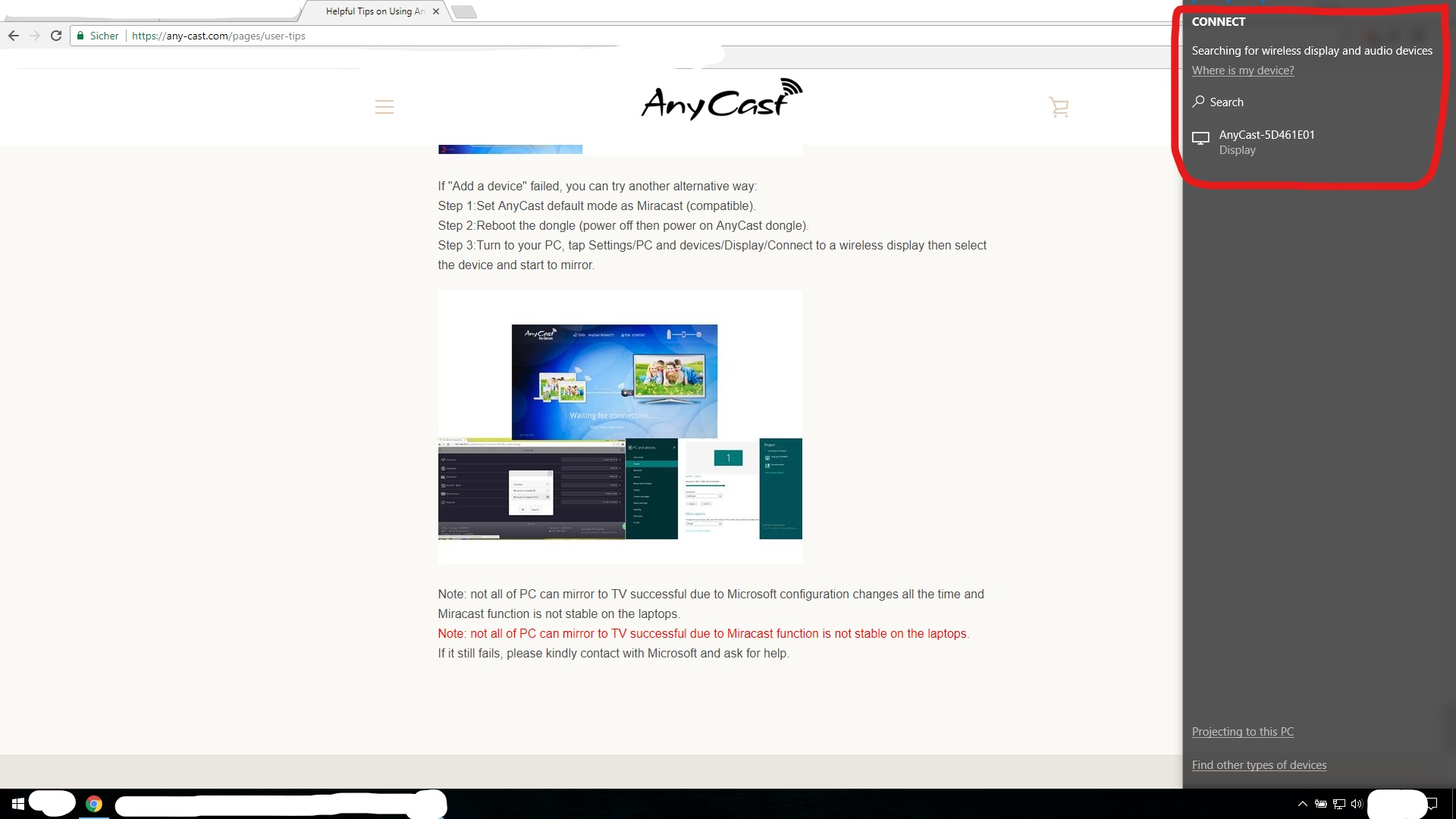 Could not connect to a wireless display - Microsoft Community