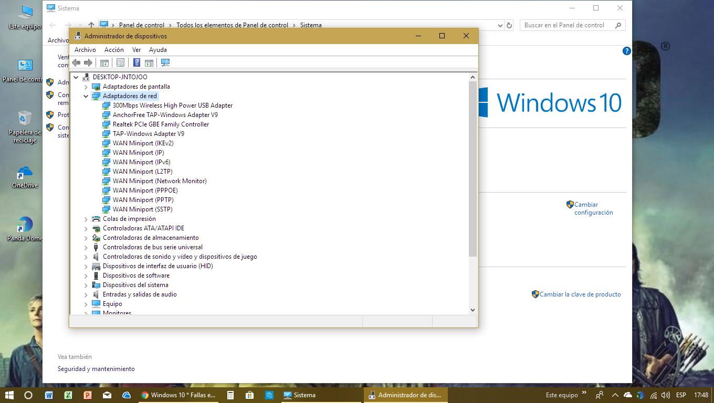 Windows 10 * Fallas en el Wi-Fi desde que se actualizó el