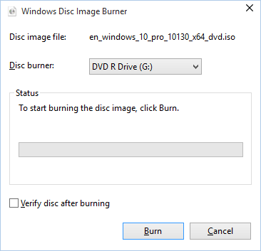 burn iso image to dvd windows 8