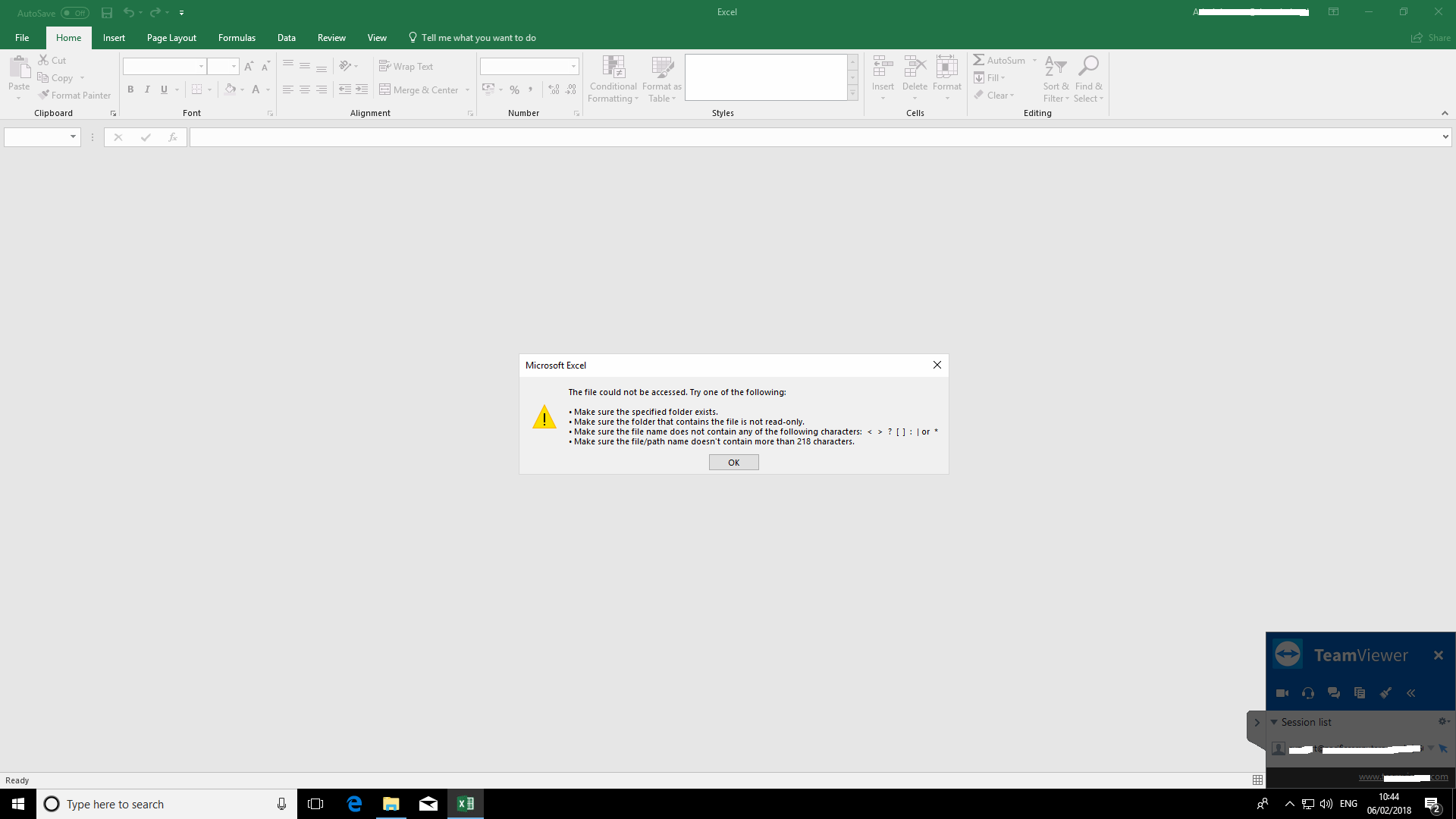 Excel files do not open 26