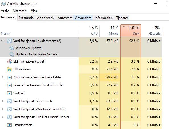 High/100% Disk Usage on Win 10 - Microsoft Community