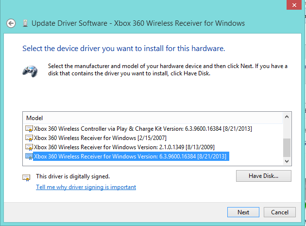 xbox one wireless driver windows 8.1