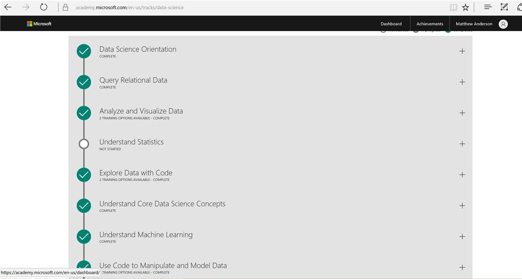 Data Science Track Ocmpletion But Not Updated On Dashboard After 5