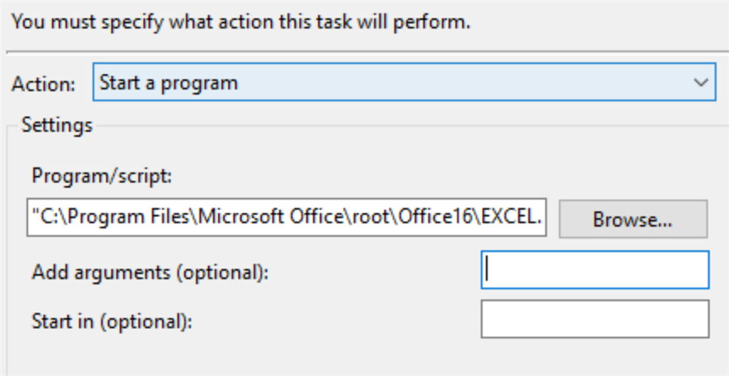 windows 10 task scheduler and office 2016 microsoft community