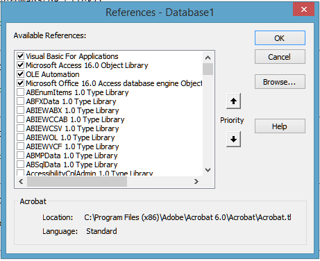 microsoft office 16.0 object library