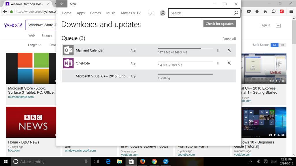 microsoft store download stuck