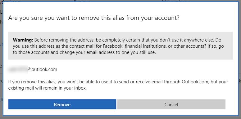 Retrieve primary email address to Microsoft account - Microsoft