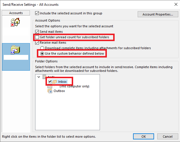Outlook 365 stops receiving mails from IMAP after being open