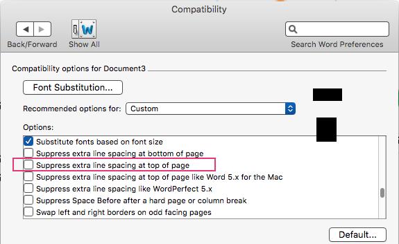 mac word 2011 line numbers