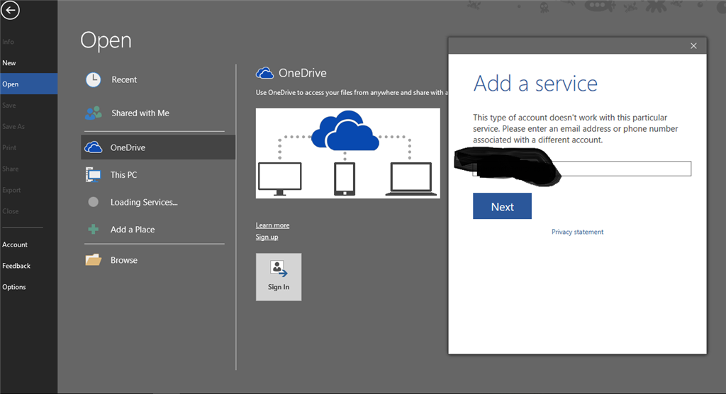 Can't open onedrive files in Word - Microsoft Community