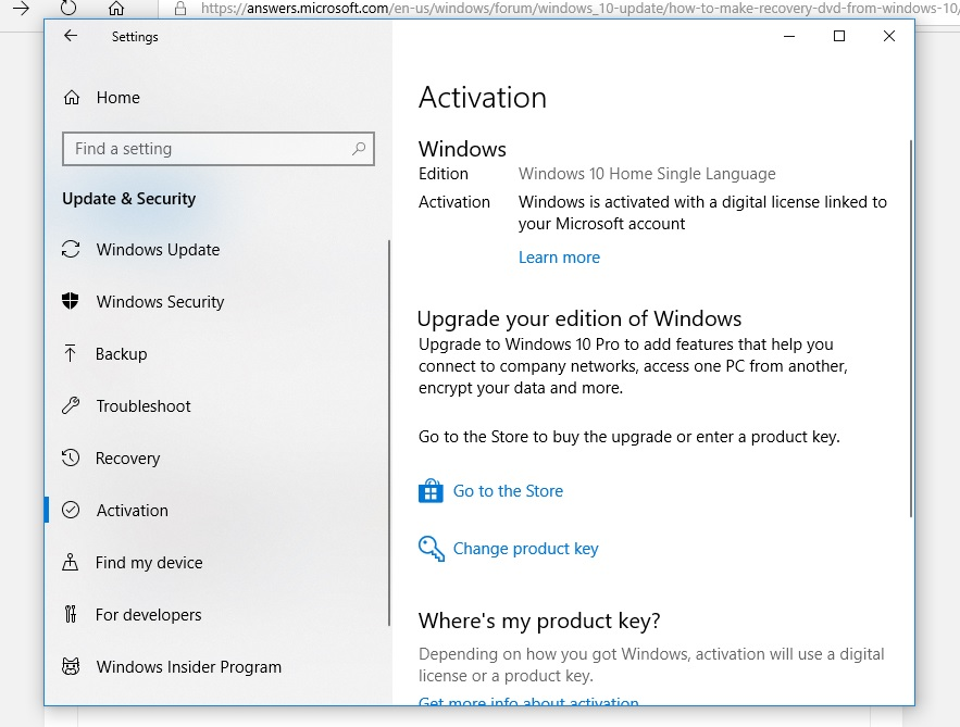 how to make recovery DVD from Windows 10 - Microsoft Community