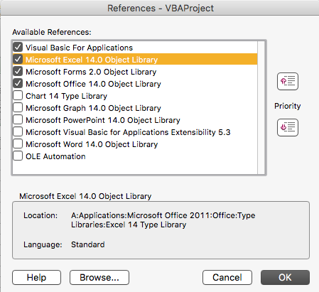 missing libraries in Excel for Mac - Microsoft Community