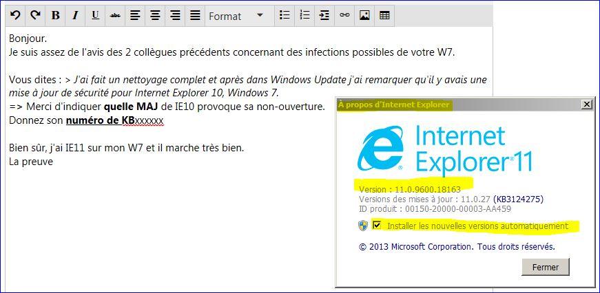 Mon Navigeur Internet Explorer 11 Ne S Ouvre Plus Meme En