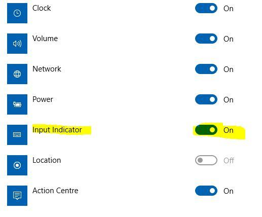 Language bar disappeared from taskbar in Windows 10 - Microsoft