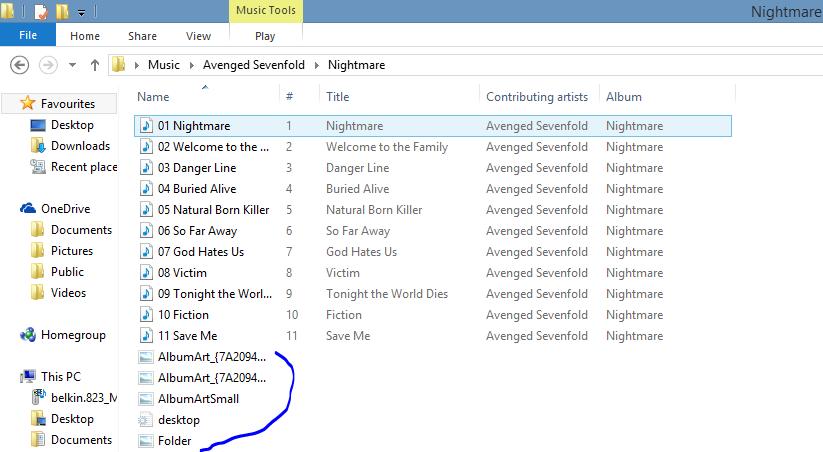 Music And Hidden Album Art In Folders Microsoft Community