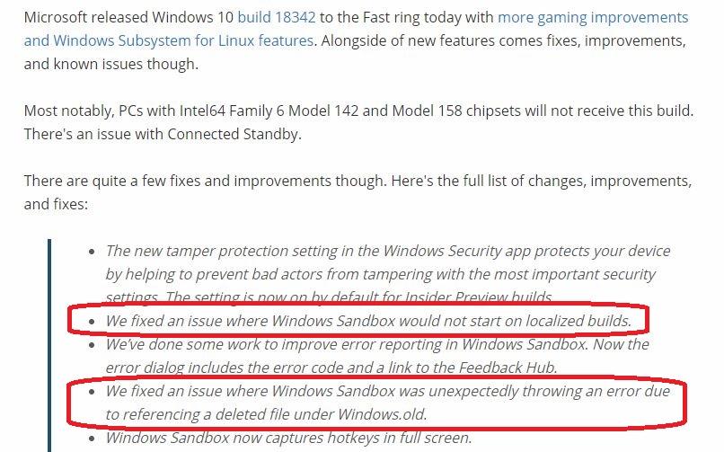 Sandbox Failed to Load - Microsoft Community