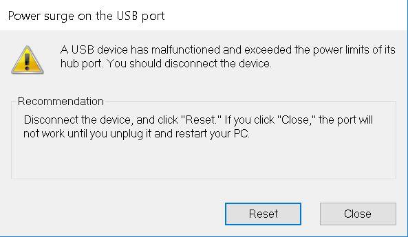 win 10 reset usb ports