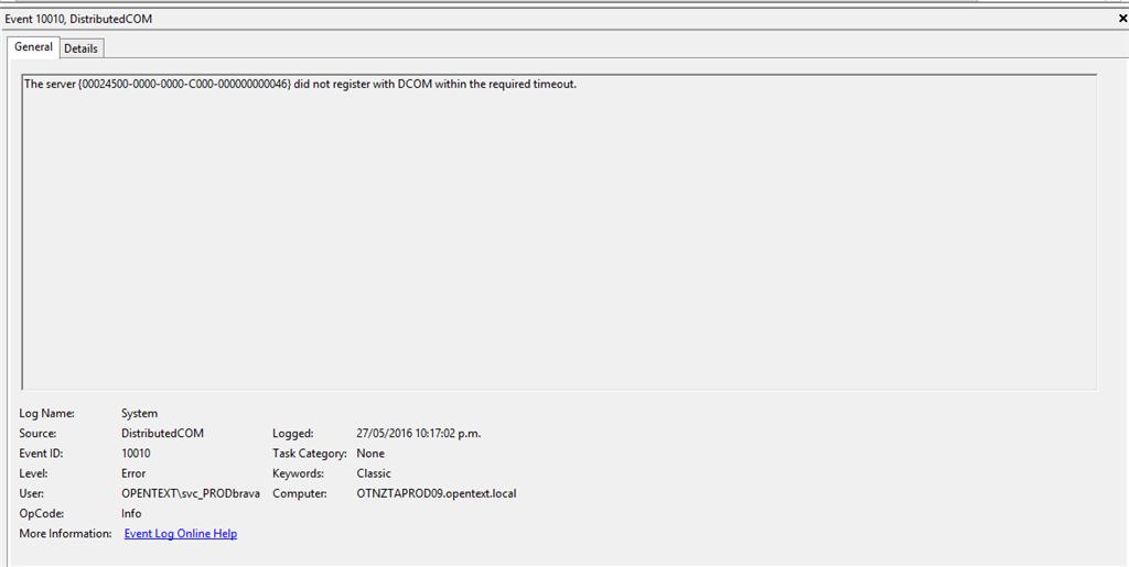 Event ID: 10010 DCOM error - Microsoft Community