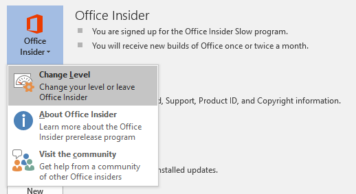 Its Here Office Insider Fast For Office 2016 On Windows
