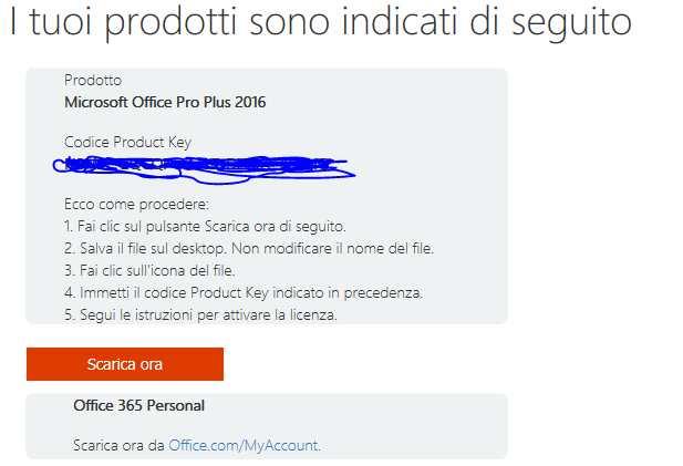 codice product key office 2016 gratis