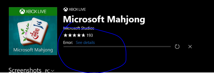 0x803f8001 games account microsoft community