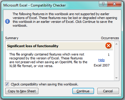 microsoft excel 2007 not opening files
