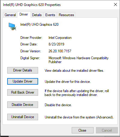 Intel Display Driver Update: 26.20.100.7157