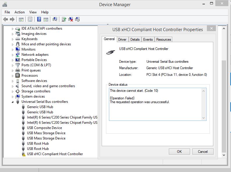usb 3 0 ports not working in windows 8 1 usb xhci host controller microsoft community. Black Bedroom Furniture Sets. Home Design Ideas