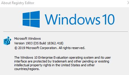 I Have Windows 10 Enterprise Evaluation 18362 418 How Can I Upgrade To Microsoft Community