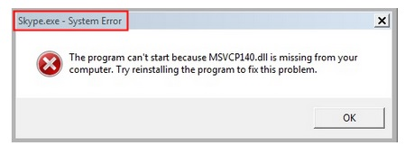 missing MSVCP140 dll - Microsoft Community