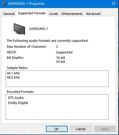 Windows 10 Upgrade no 5 1 surround speaker option