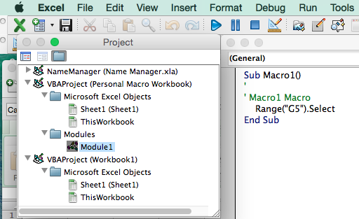 unhide personal macro workbook excel mac