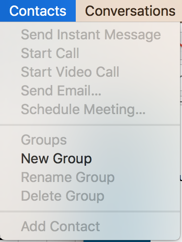 Add Contact Greyed Out on Skype for Business Mac application