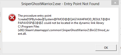 fmodex.dll sniper ghost warrior 2