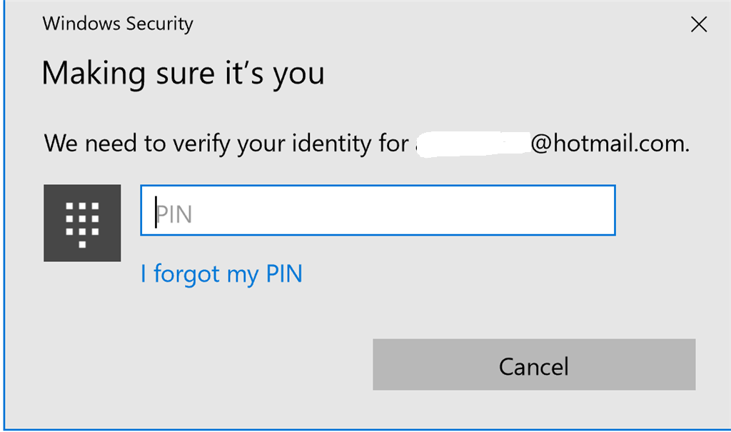 Need help   Unable to create a new PIN after someone hacked