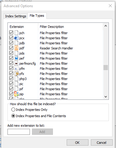 Cannot search contents of pdf files using File explorer - Microsoft