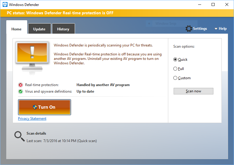 can i use windows defender with avast