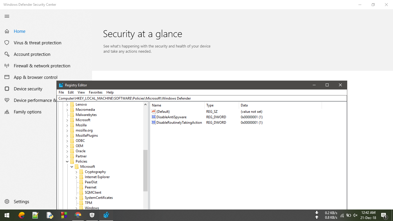 can't turn on windows defender - Microsoft Community