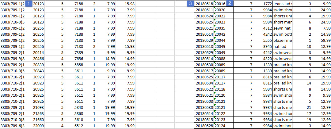 if value is correct in other column then show third value