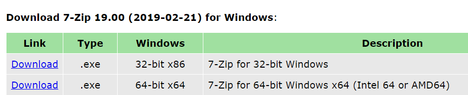 Which 7zip should i download for windows 10 - Microsoft