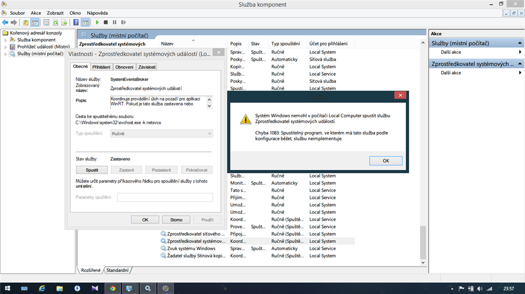 windows 8 1 fails to install device drivers data is invalidand when i choose run, give me error 1083 sorry for czech lang in screen,