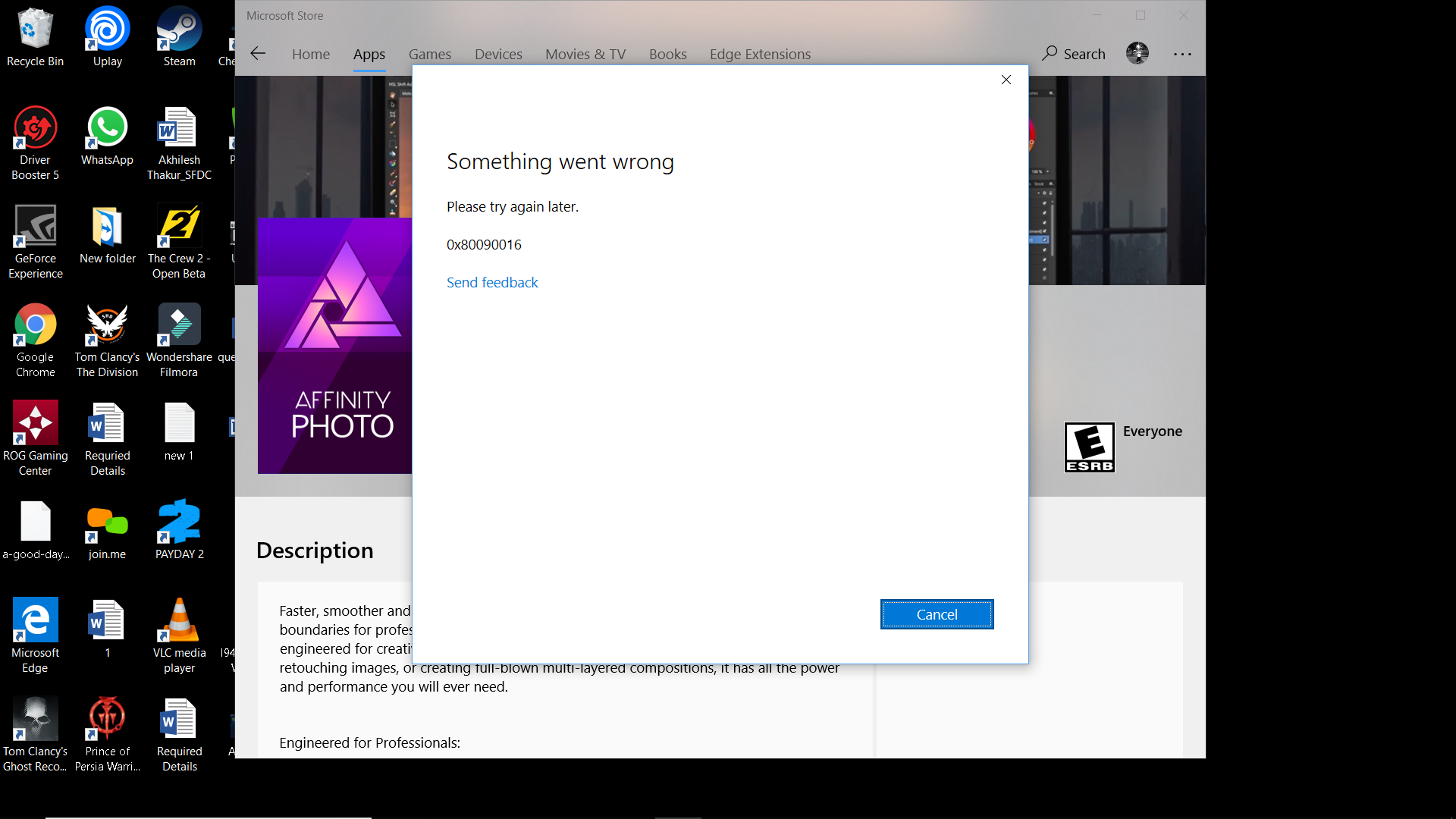 Unable to purchase apps in microsoft store, - Microsoft