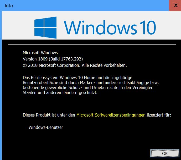 Schwarzer hintergrund nach windows 10 update