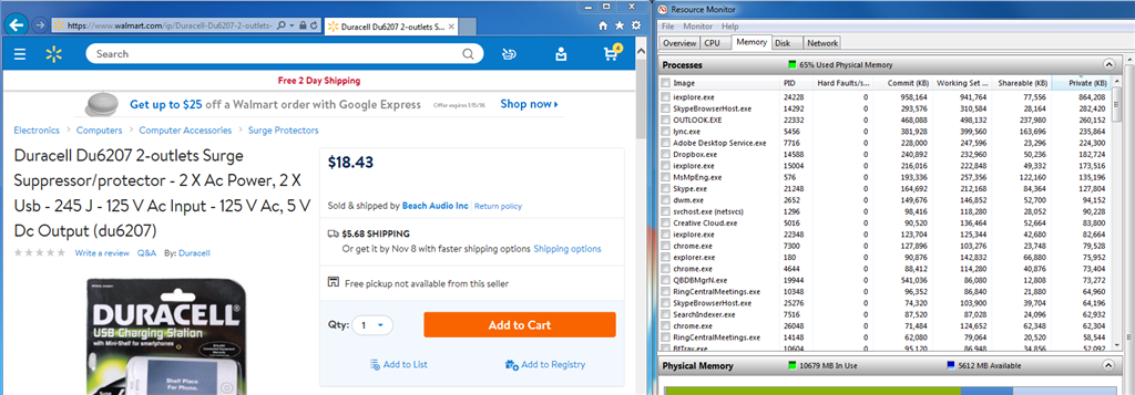 memory leak in ie11 on walmart site microsoft community