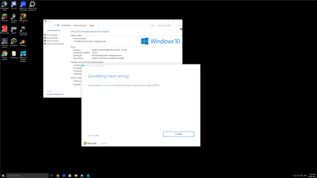 PC trying to update to windows 10... from windows 10? - Microsoft Community