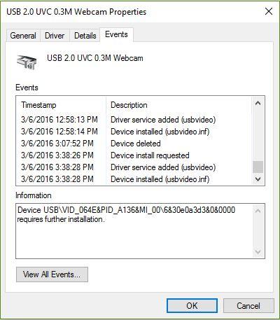 Webcam error win 98