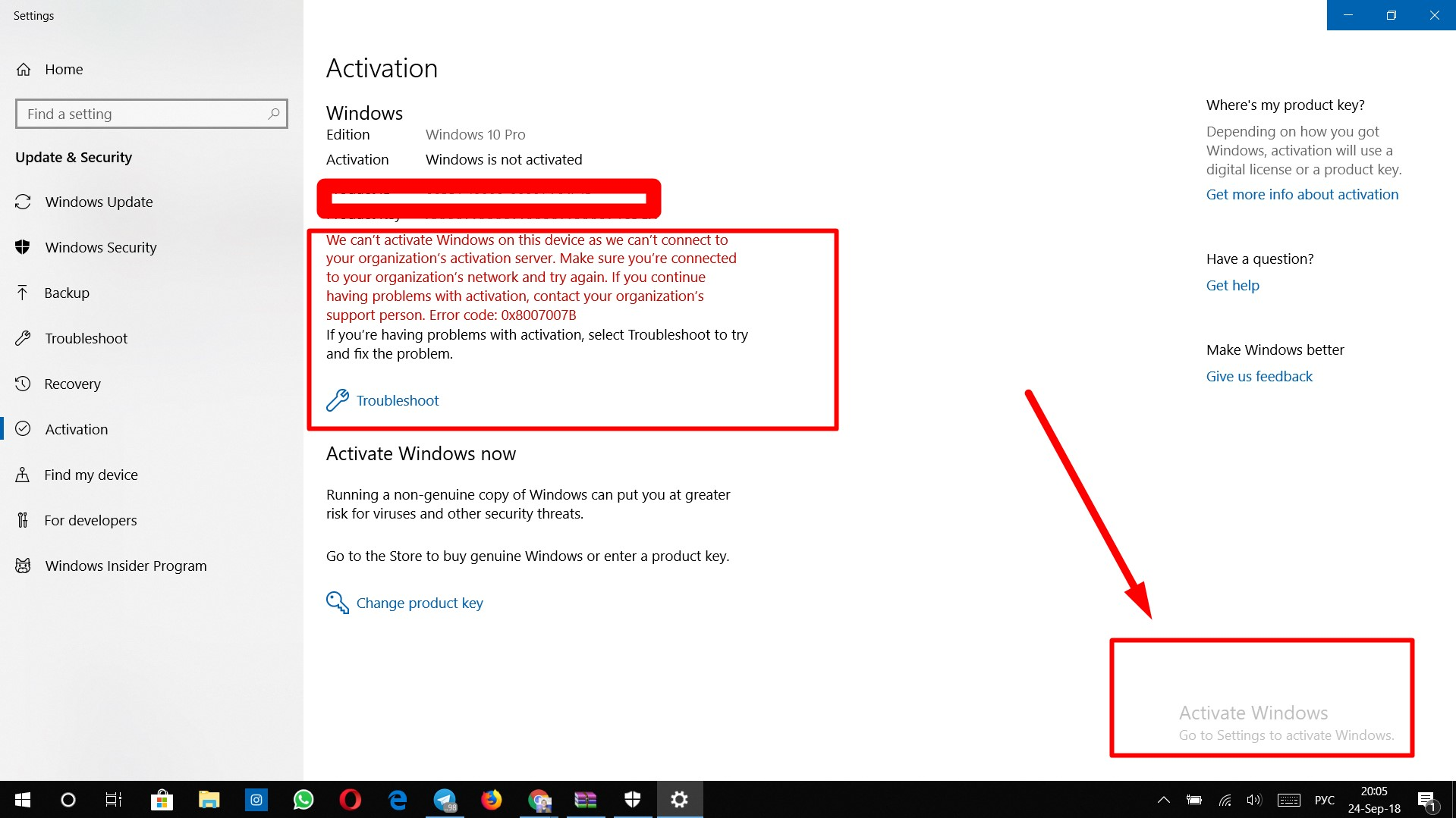 activate windows go to settings to activate windows 10 fix
