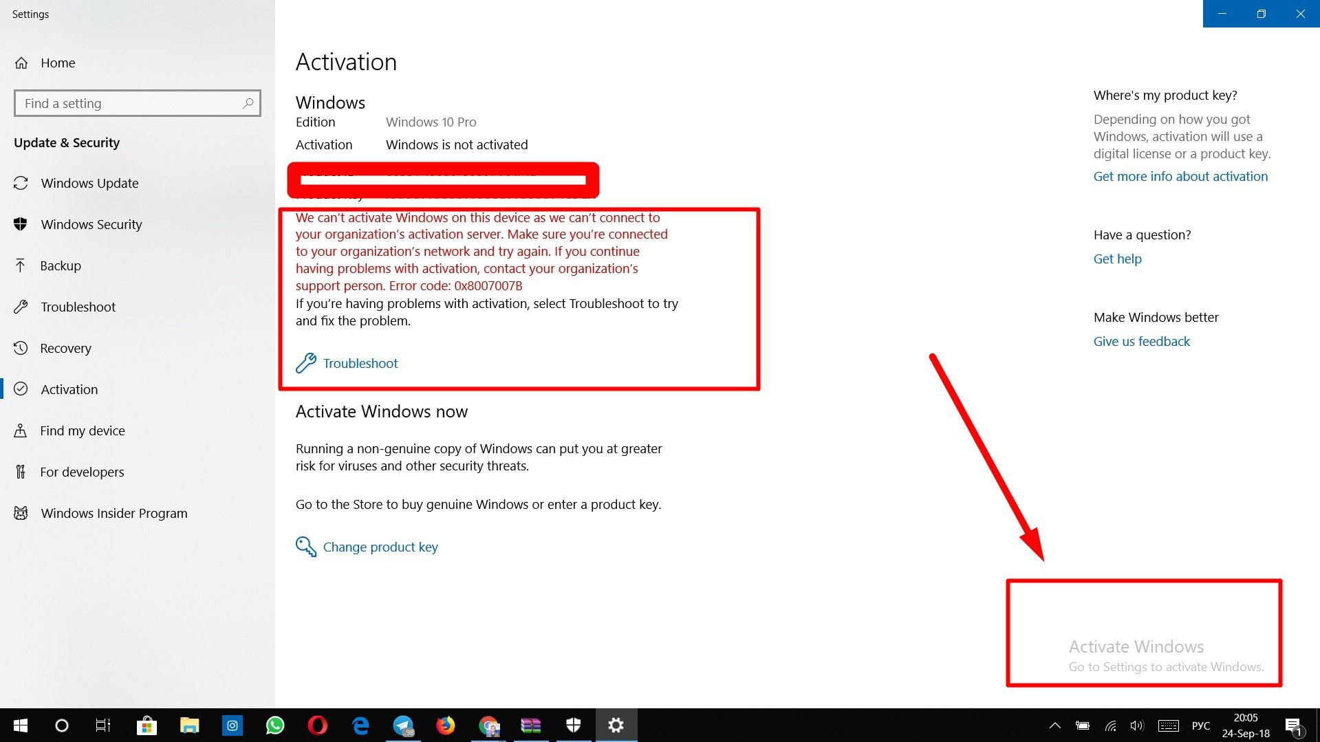Activation problem microsoft Troubleshoot Windows