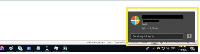Microsoft Teams toast notifications timeout - Microsoft