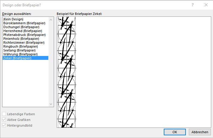 Outlook Briefpapier Vorlagen Microsoft Community